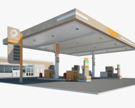 3D model of Total Access gas station 001
