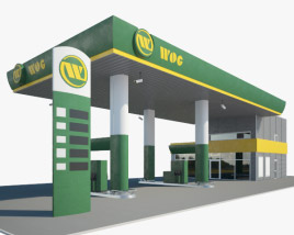 WOG gas station 001 3D model