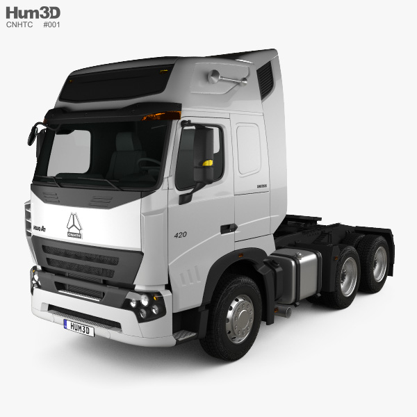 CNHTC Howo A7 Tractor Truck 2019 3D model