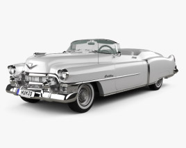 3D model of Cadillac Eldorado Convertible 1953