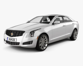 3D model of Cadillac ATS 2013