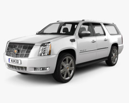 3D model of Cadillac Escalade ESV 2011