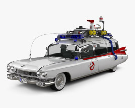 3D model of Cadillac Miller-Meteor Ghostbusters Ectomobile