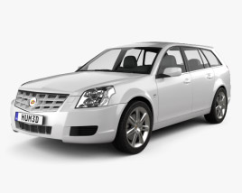 3D model of Cadillac BLS wagon 2009