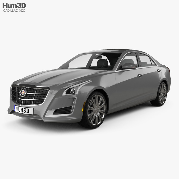 3D model of Cadillac CTS 2014