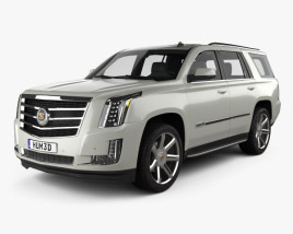 3D model of Cadillac Escalade 2015