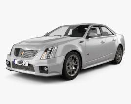 3D model of Cadillac CTS-V sedan 2009