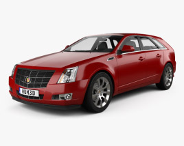 3D model of Cadillac CTS sport wagon 2009
