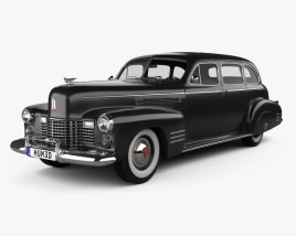 3D model of Cadillac Fleetwood 75 touring sedan 1941