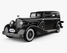 3D model of Cadillac V-16 town car 1933