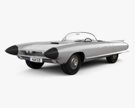 3D model of Cadillac Cyclone concept 1959