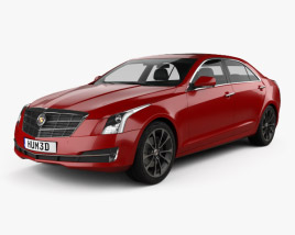 3D model of Cadillac ATS L 2015