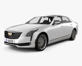 3D model of Cadillac CT6 2016