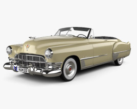 3D model of Cadillac 62 convertible 1949