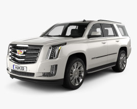 3D model of Cadillac Escalade (EU) 2015