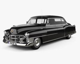 3D model of Cadillac 75 sedan 1953