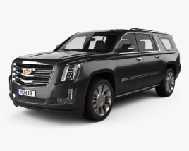 3D model of Cadillac Escalade ESV Platinum (EU) 2015