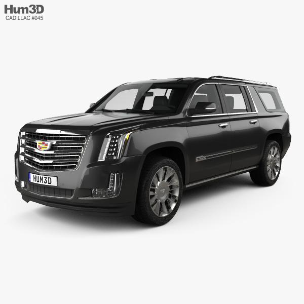 Cadillac Escalade ESV Platinum (EU) 2015 3D model