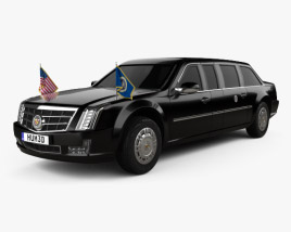 3D model of Cadillac US Presidential State Car 2017
