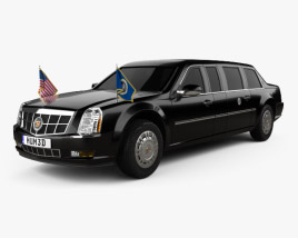 3D model of Cadillac US Presidential State Car 2009