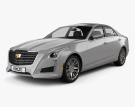 3D model of Cadillac CTS Premium Luxury 2017