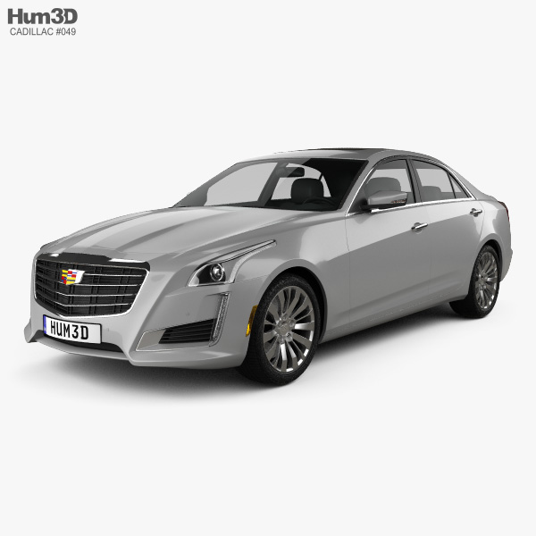 3D model of Cadillac CTS Premium Luxury 2017