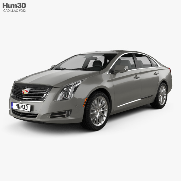 3D model of Cadillac XTS Platinum 2017
