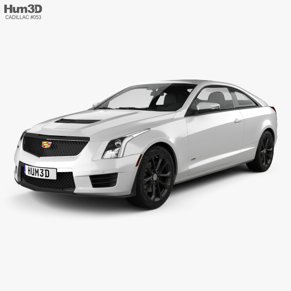 3D model of Cadillac ATS-V coupe 2017