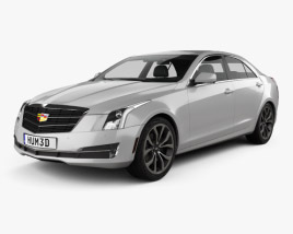 3D model of Cadillac ATS Premium Performance sedan 2017