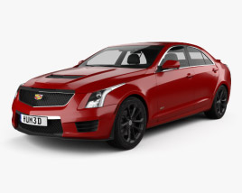 3D model of Cadillac ATS-V sedan 2017