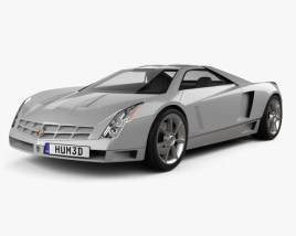 3D model of Cadillac Cien concept 2002