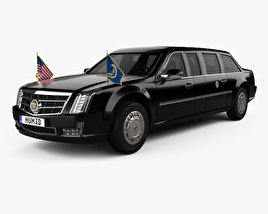 3D model of Cadillac US Presidential State Car with HQ interior 2017