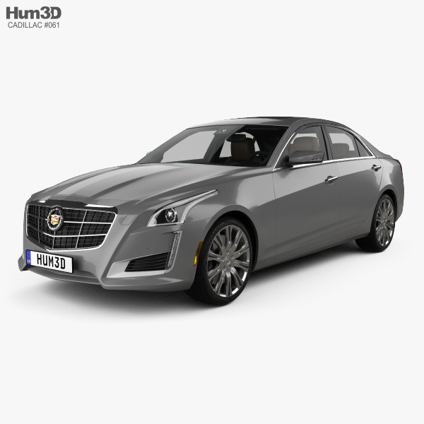 3D model of Cadillac CTS with HQ interior 2014