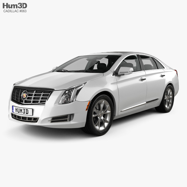 3D model of Cadillac XTS with HQ interior 2013