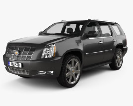 3D model of Cadillac Escalade 2012