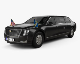 3D model of Cadillac US Presidential State Car 2020