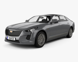 3D model of Cadillac CT6 CN-spec 2020