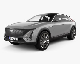 3D model of Cadillac Lyriq 2020