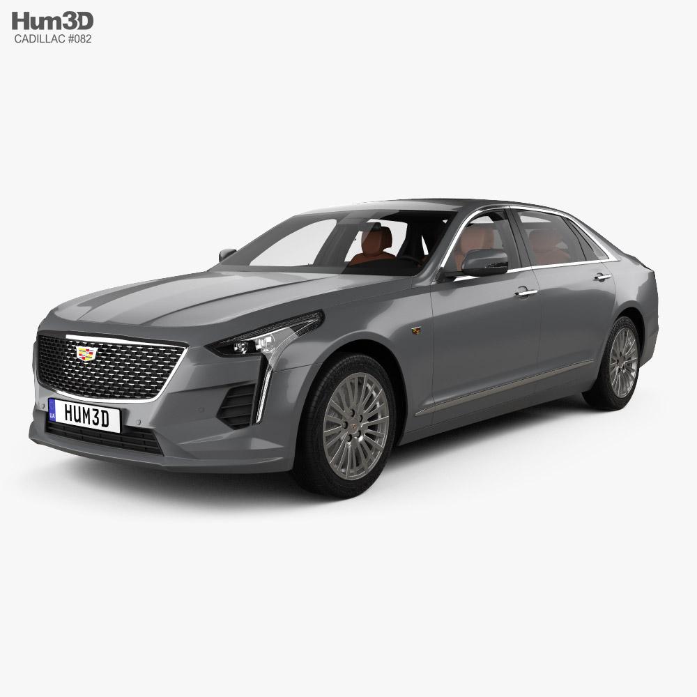 Cadillac CT6 CN-spec with HQ interior 2020 3D model