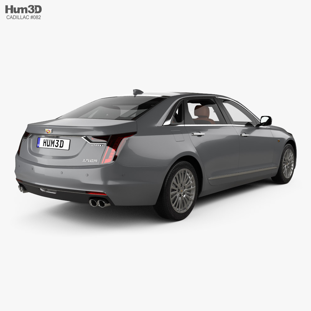 Cadillac CT6 CN-spec with HQ interior 2020 3d model back view