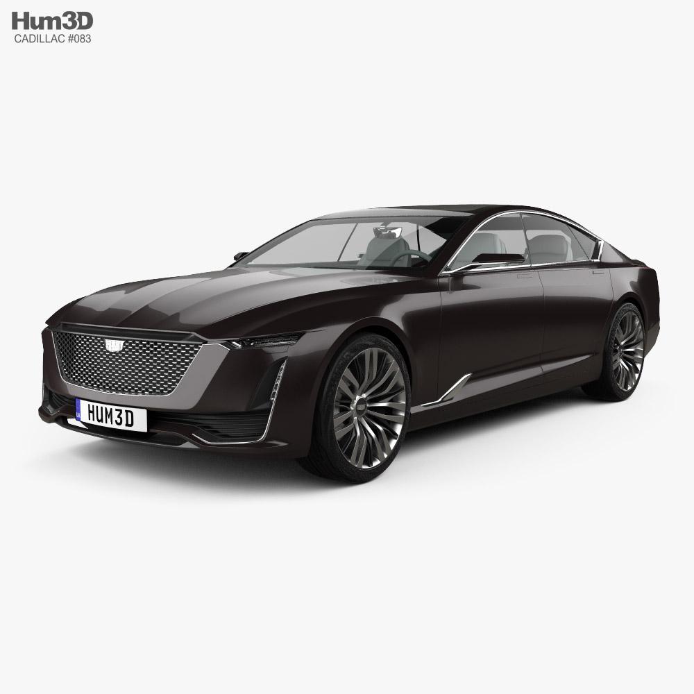 Cadillac Escala with HQ interior 2016 3D model