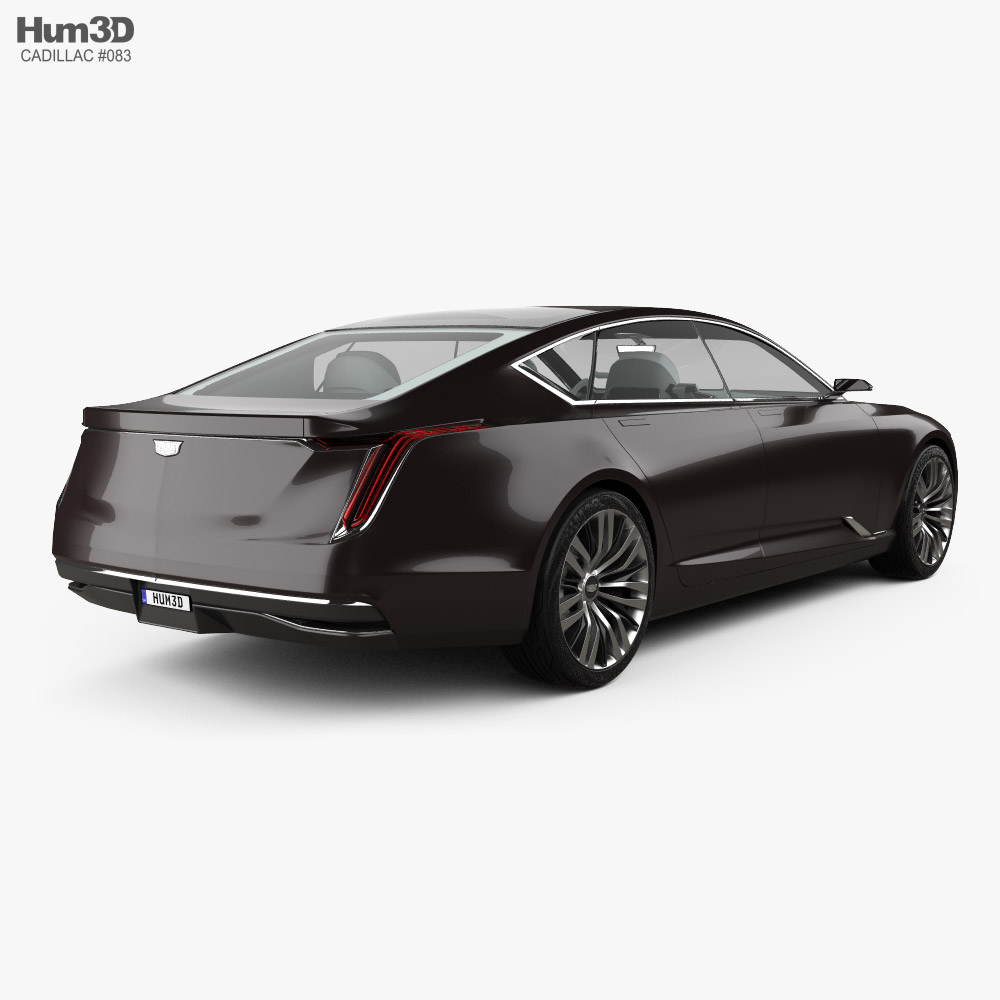 Cadillac Escala with HQ interior 2016 3d model back view