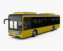 3D model of Caetano e-City Gold Bus 2016