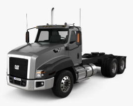 3D model of Caterpillar CT660 Tractor Truck 2011