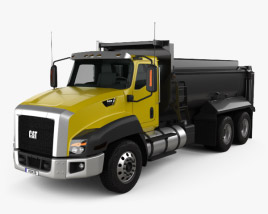 3D model of Caterpillar CT660 Dump Truck 2011