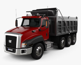 3D model of Caterpillar CT660 Dump Truck 4-axle 2011