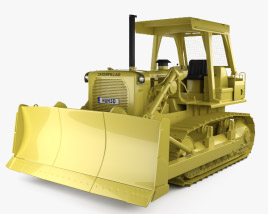 3D model of Caterpillar D7G Crawler Dozer 1974