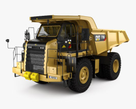 3D model of Caterpillar 770G Dump Truck 2016