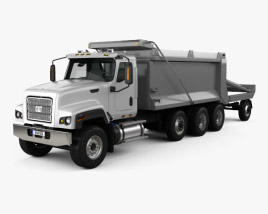 3D model of Caterpillar CT681 Dump Truck  2014