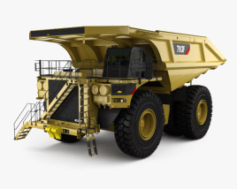 3D model of Caterpillar 793F Dump Truck 2009